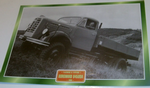 Borgward B4500A Flatbed Tipper truck framed picture